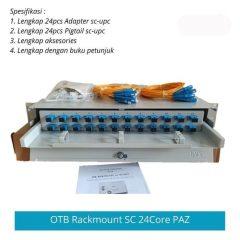 OTB Optical Termination Box 24 Core SC Merk PAZ Lengkap Adapter SC UPC